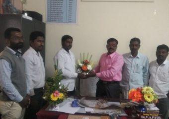 student congratulate principal vijay kumar patil